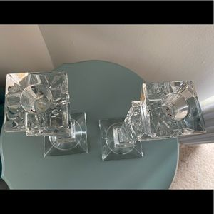 Accents - Vintage Crystal Candlesticks